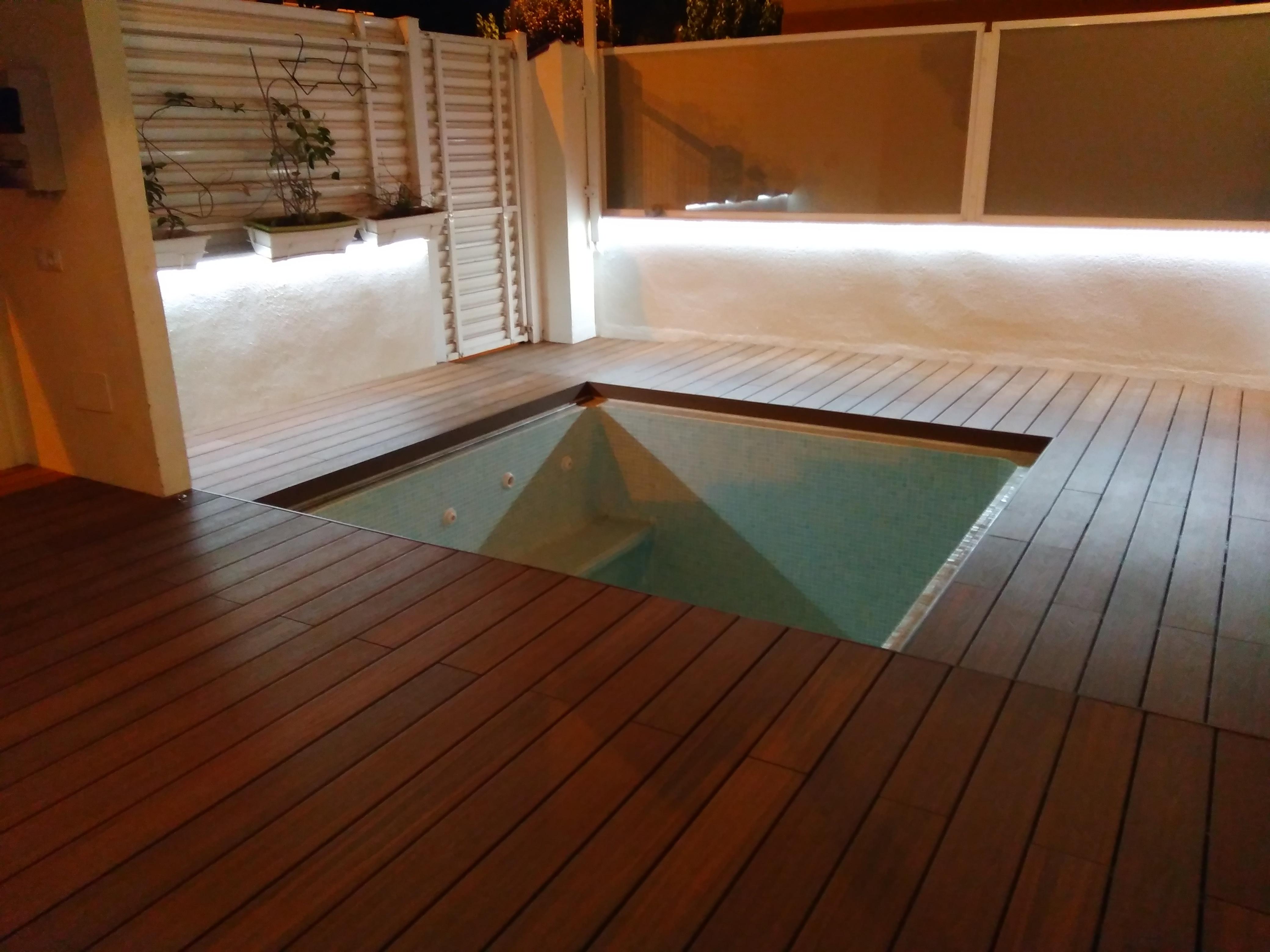 Cubierta piscinas transitable modelo Córcega