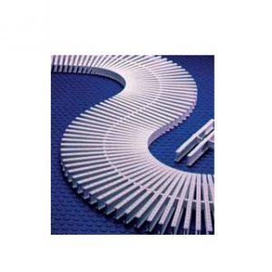Rejilla rebosadero piscina para curvas y rectas de unión por acoplamiento