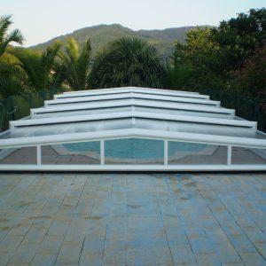 Cubierta elevada telescópica piscina Apolo