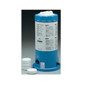 Dosificador piscina para compactos de tricloro y tabletas de bromo